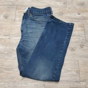 Faded Glory straight fit dark blue jeans